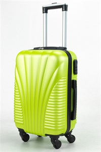 Чемодан маленький ABS (ракушка, коротк  ручка) зеленый