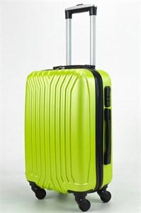 Чемодан маленький ABS (У-образный, коротк  ручка) зеленый