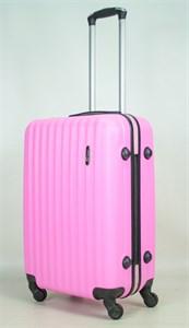Чемодан средний ABS TT (верт  полоски) розовый