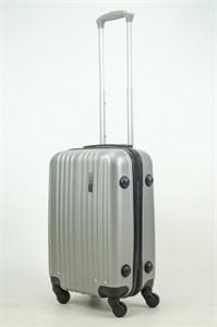 Чемодан маленький ABS Journey (8 верт  полос ) серебро (Ч)