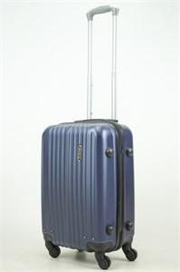 Чемодан маленький ABS Journey (8 верт  полос ) темно-синий (Ч)