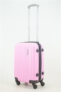 Чемодан маленький ABS Royal McQueen (8 верт полос) розовый (Ч)