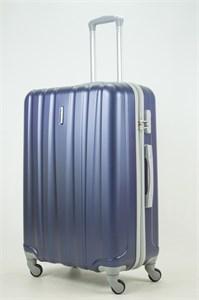 Чемодан большой ABS KK 6 полос  (С) темно-синий
