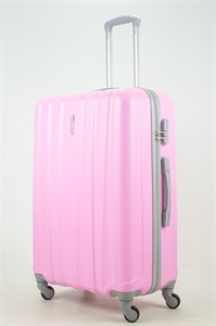 Чемодан большой ABS KK 6 полос  (С) розовый