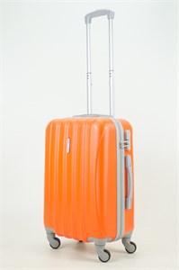Чемодан маленький ABS KK 5(4) полос  оранжевый (С)
