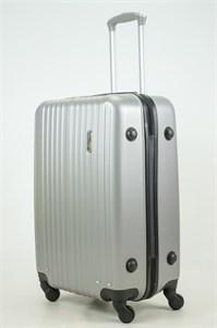 Чемодан средний ABS Royal McQueen (верт  полосы) серебро (Ч)