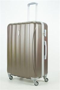 Чемодан большой ABS KK 5(4) полос  коричневый (С)