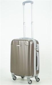 Чемодан маленький ABS KK (8 полос и уголки) коричневый (С)