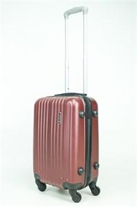 Чемодан маленький ABS Journey (8 верт  полос ) бордовый (Ч)