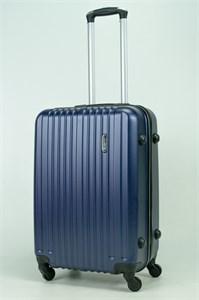 Чемодан средний ABS Journey (8 верт  полос ) темно-синий