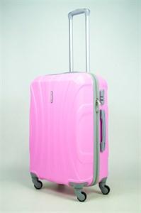 Чемодан средний ABS KK (черепаха) розовый