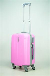 Чемодан маленький ABS KK (три полоски) розовый (С)