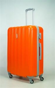 Чемодан большой ABS KK 5(4) полос  оранжевый (С)