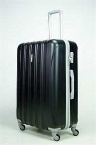 Чемодан большой ABS KK 5(4) полос  черный (С)