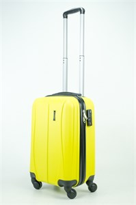 Чемодан маленький ABS Freedom (трезубец) желтый (Ч)