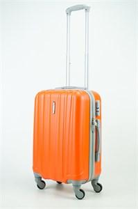 Чемодан маленький ABS KK 6 полос  оранжевый (С)