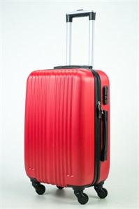 Чемодан маленький ABS NN (10 верт полос) красный (Ч)