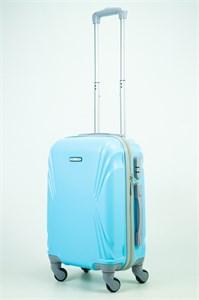 Чемодан маленький ABS KK (волны) голубой