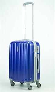 Чемодан маленький ABS KK (6 полос)  темно-синий
