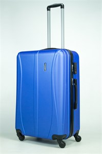 Чемодан большой ABS Freedom (трезубец) синий (Ч)