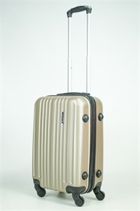 Чемодан маленький ABS Journey (8 верт  полос ) песочный (Ч)