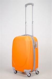Чемодан маленький ABS 360-гр  оранжевый (С)