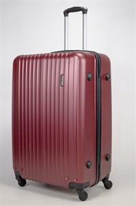Чемодан большой ABS Journey (8 верт  полос ) бордовый