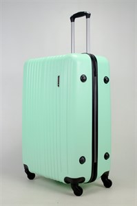 Чемодан большой ABS Journey (8 верт  полос ) мятный