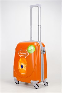 Чемодан маленький ABS 360-гр  smile оранжевый (С)