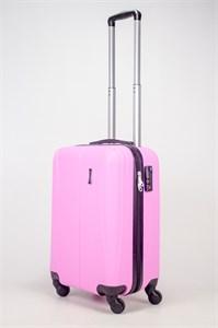 Чемодан маленький ABS Freedom (трезубец) розовый