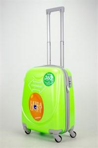 Чемодан маленький ABS 360-гр кислотно-зеленый