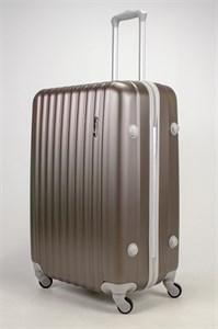 Чемодан большой ABS TT (верт  полоски) коричневый СФ