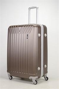 Чемодан большой ABS (У-образный) коричневый СФ
