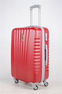 Чемодан средний ABS Hossoni (8 верт  полос ) красный
