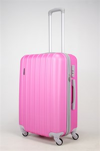 Чемодан средний ABS PASSION (верт  полоски) розовый (Ч)