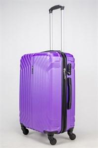 Чемодан средний ABS Корона (Лилия) фиолетовый ЧФ