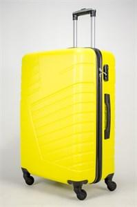 Чемодан большой ABS OCCE (вафли) желтый