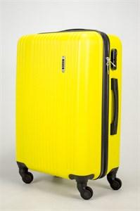 Чемодан средний ABS OCCE (тонкие верт полосы) желтый