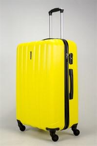 Чемодан большой ABS KK (6 полос) желтый