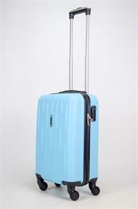 Чемодан маленький ABS OCCE (черточки) небесно голубой ЧФ