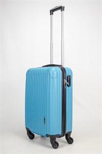 Чемодан маленький ABS OCCE (9 полос углы) голубой ЧФ