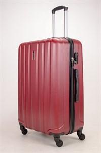 Чемодан большой ABS KK (6 полос) бордовый