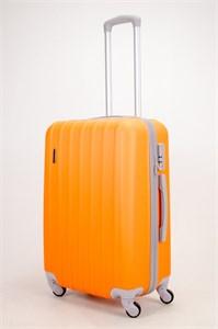 Чемодан средний ABS Passion (верт  полоски) оранжевый