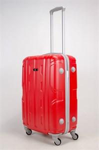 Чемодан средний ABS PLd (орнамент) красный