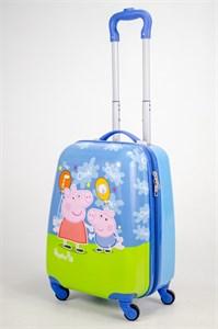 Детский чемодан PC на колесиках синий  12894