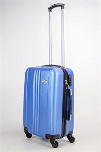 Чемодан малый ABS TLite (3 полосы по центру) синий ЧФ