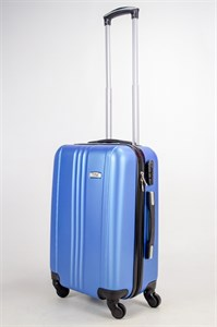 Чемодан маленький ABS TLite (3 полосы по центру) синий ЧФ