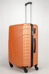 Чемодан большой ABS OCCE (вафли) оранжевый