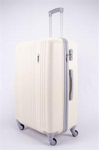 Чемодан большой ABS OCCE (15 полос) молочный