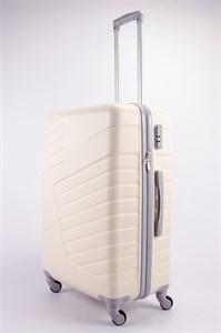 Чемодан большой ABS OCCE (вафли) молочный